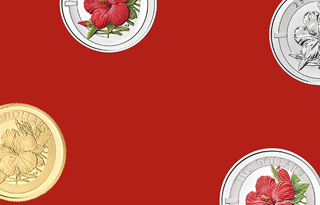 The Red Hibiscus Commemorative Coin
