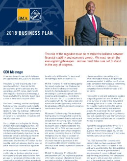 Bermuda Monetary Authority Business Plan 2018