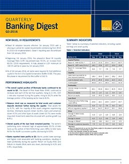 Q3-2016 Quarterly Banking Digest
