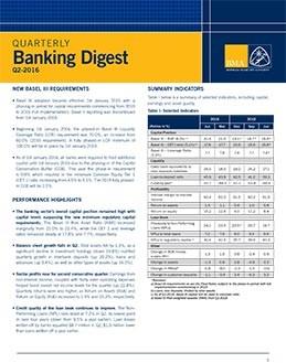 Q2-2016 Quarterly Banking Digest