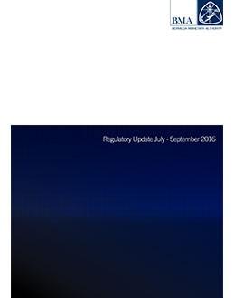 Regulatory Update July - September 2016