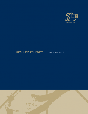 Regulatory Update April - June 2019