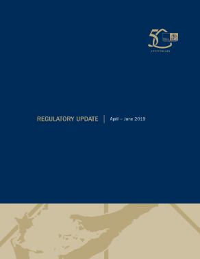 Regulatory Update April - June 2019