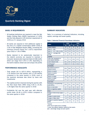 Q2-2019 Quarterly Banking Digest