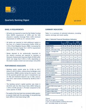 Q3-2019 Quarterly Banking Digest