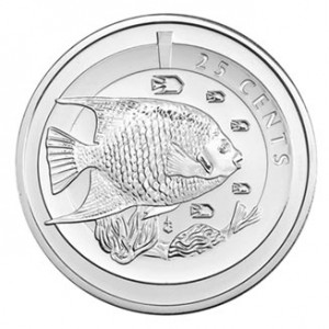 2013 CUPRONICKEL BLUE ANGEL FISH COIN