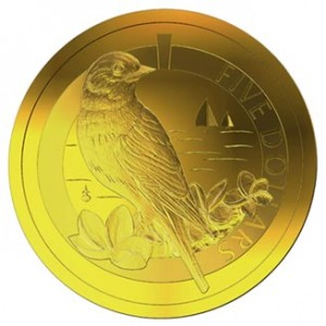 2011 GOLD PROOF 1/20th oz BERMUDA BLUEBIRD COIN