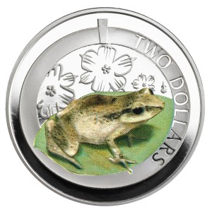 Silver Proof Whistling Frog