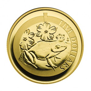 Gold Proof 1/20th Oz Whistling Frog
