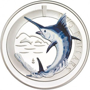 Silver Proof Blue Marlin Coin