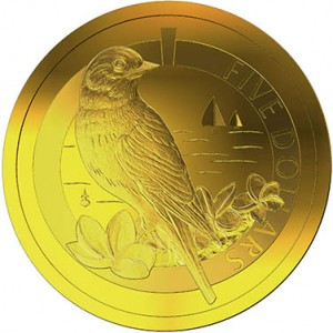 Gold Proof 1/20th Oz Bermuda Bluebird Coin