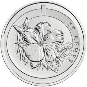 Cupronickel Hibiscus (25c)