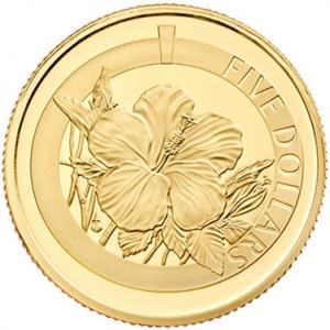 Gold Proof 1/20 oz Hibiscus