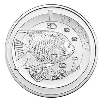 2013 CUPRONICKEL BLUE ANGEL FISH COIN