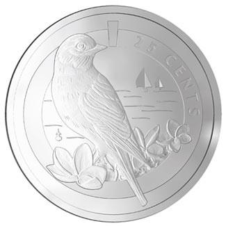 2011 CUPRONICKEL BERMUDA BLUEBIRD COIN