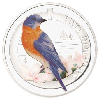 2011 SILVER PROOF BERMUDA BLUEBIRD COIN