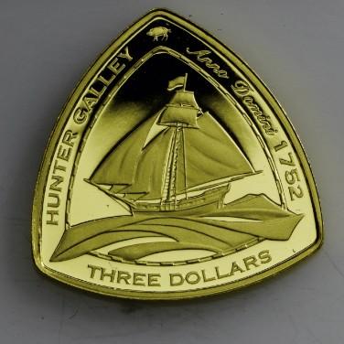 BERMUDA SHIPWRECKS HUNTER GALLEY GOLD PROOF