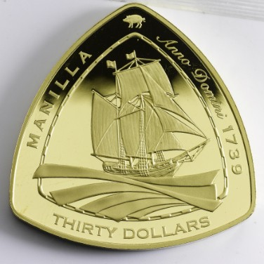 Manilla Wreck 1oz Gold Proof Coin