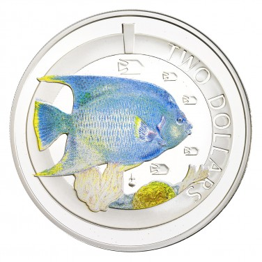 2013 SILVER PROOF BLUE ANGEL FISH COIN