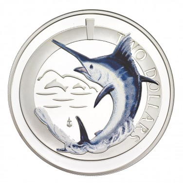 2012 SILVER PROOF BLUE MARLIN COIN
