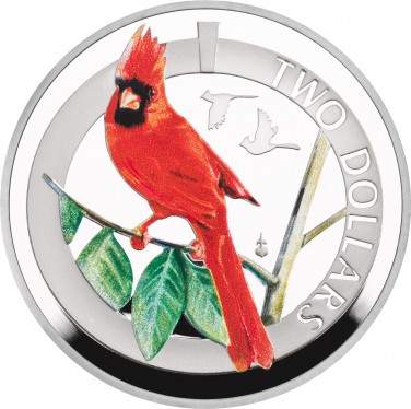 Silver Proof Northern Cardinal