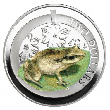 2014 SILVER PROOF WHISTLING FROG