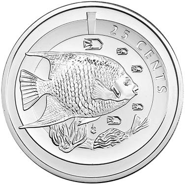 Cupronickel Blue Angel Fish Coin
