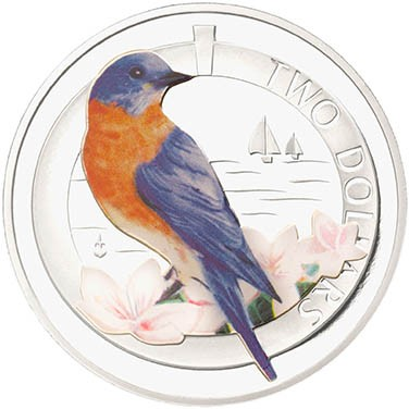 Silver Proof Bermuda Bluebird Coin